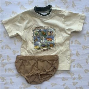 Vintage Carters Top and Old Navy bloomers